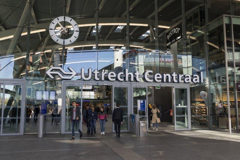 Utrecht, Paesi Bassi - 27 settembre 2018: Entrata di Utrecht C immagini stock libere da diritti