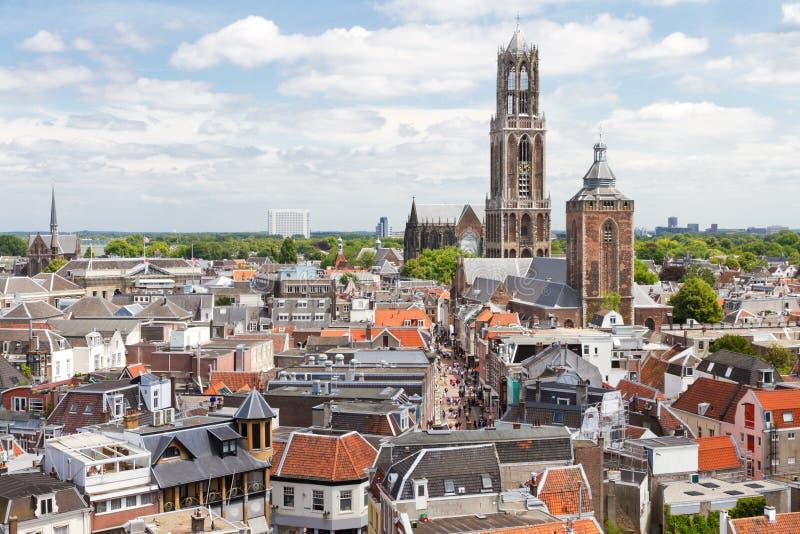 Utrecht widok z lotu ptaka, holandie obraz royalty free