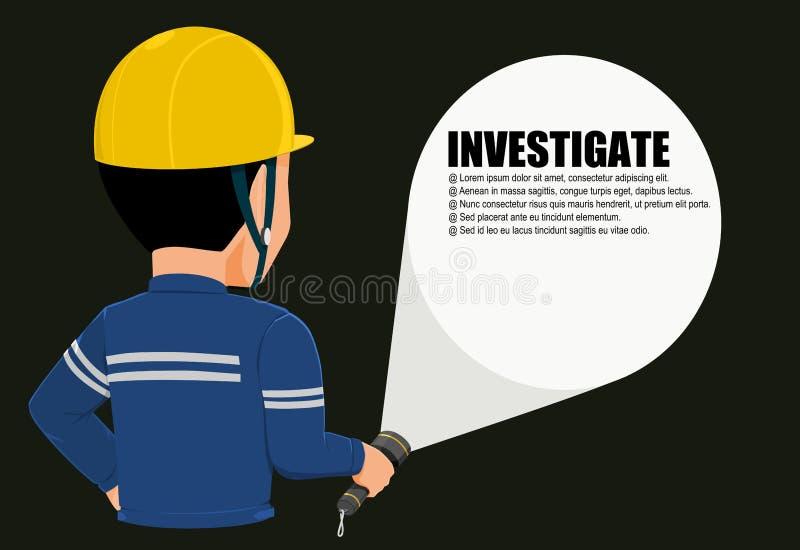 utredning vektor illustrationer