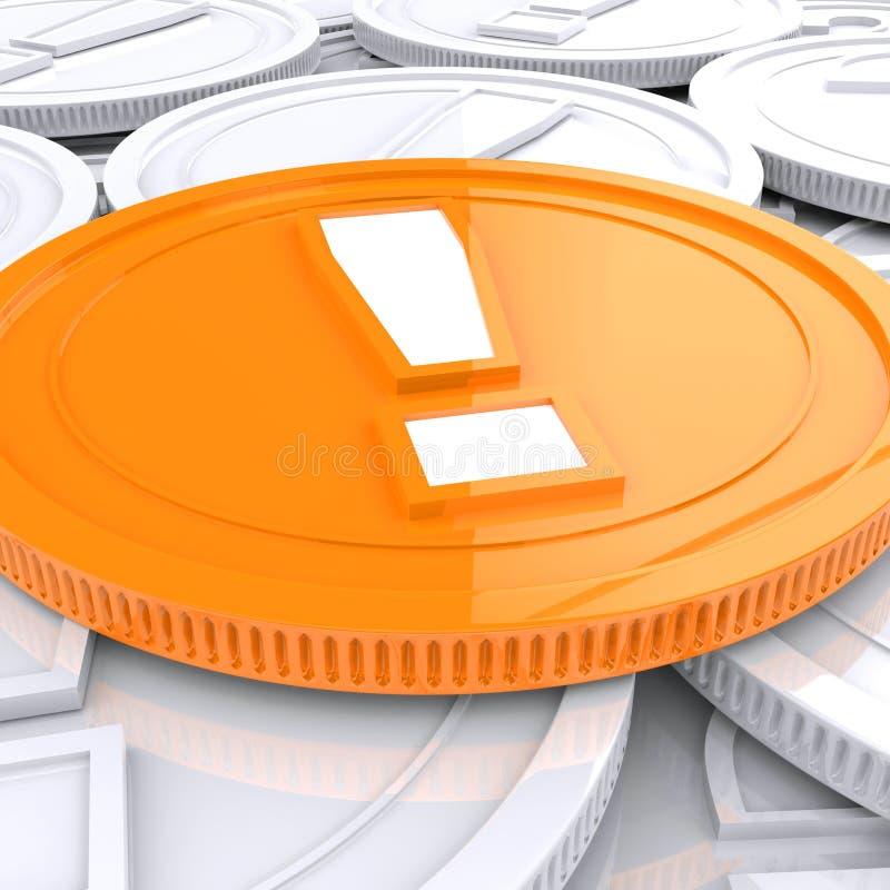 Utrop Mark Coin Shows Financial Shock stock illustrationer