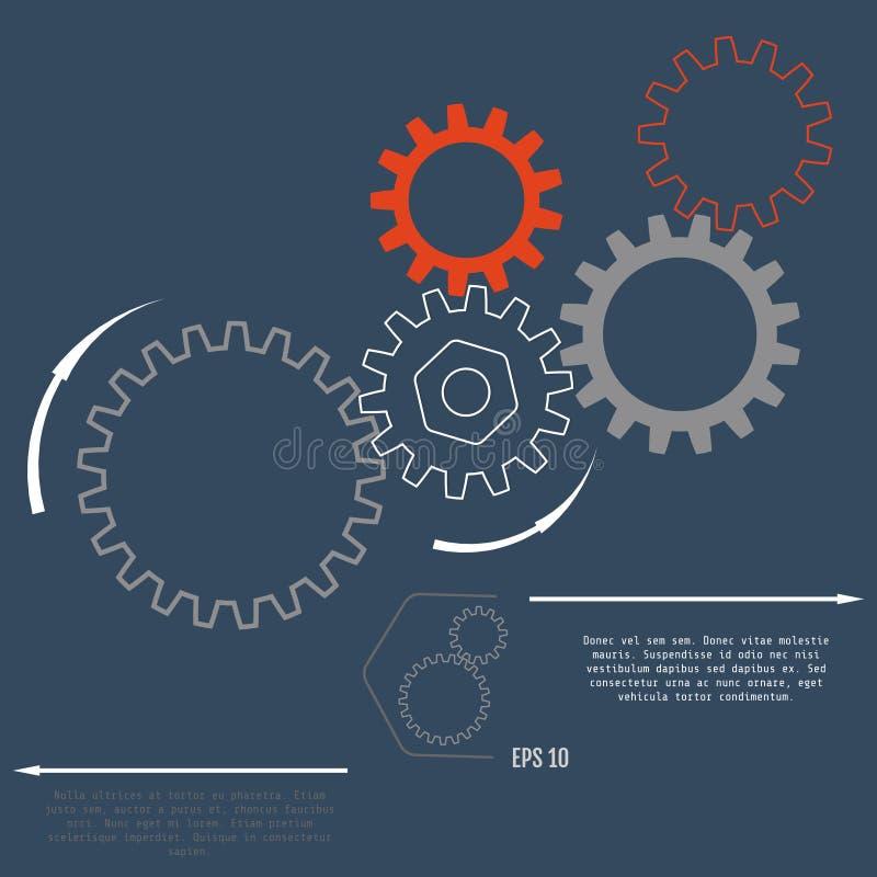 Utrusta förhållandet för affärsidéer, information-diagrammet, advertisi stock illustrationer