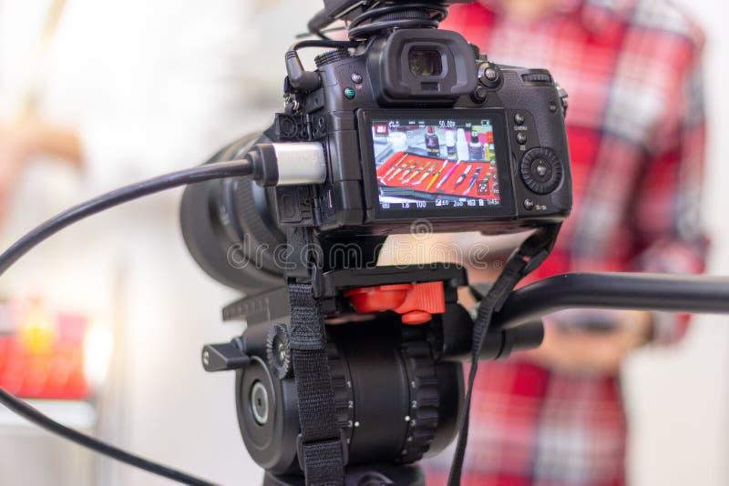 Utrustning för förlängning för videokameraskytteögonfrans arkivfoto