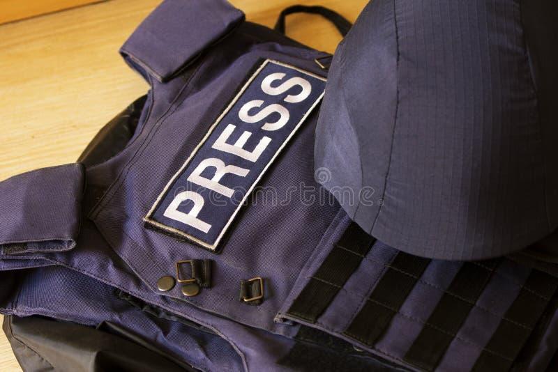 Utrustning för fotojournalist royaltyfria foton