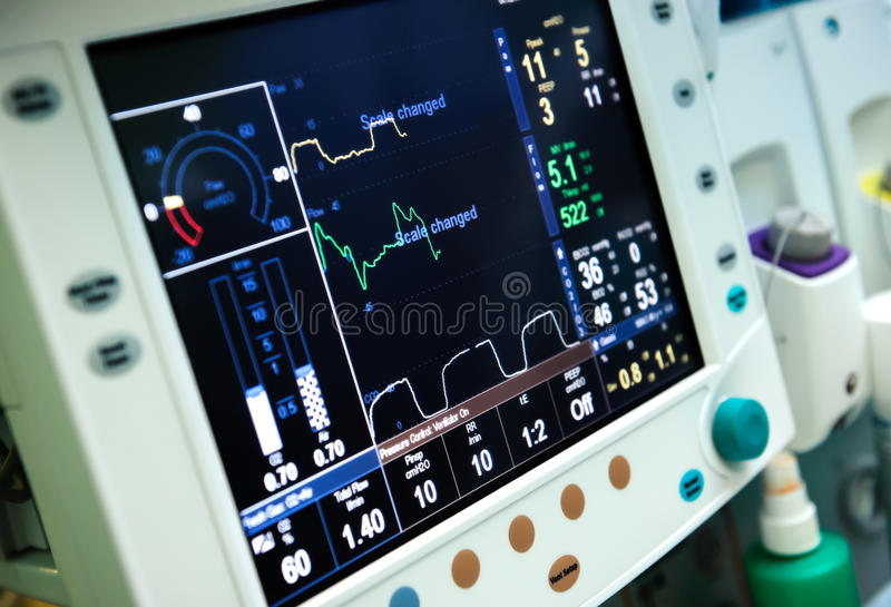 Utrustning för mekanisk ventilation fotografering för bildbyråer