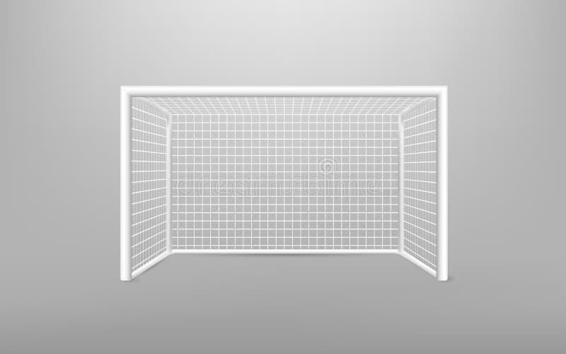 Utrustning för sportar för fotbollfotbollmål realistisk Fotbollmål med skugga Isolerat på genomskinlig bakgrund Vektor Illustrati royaltyfri illustrationer