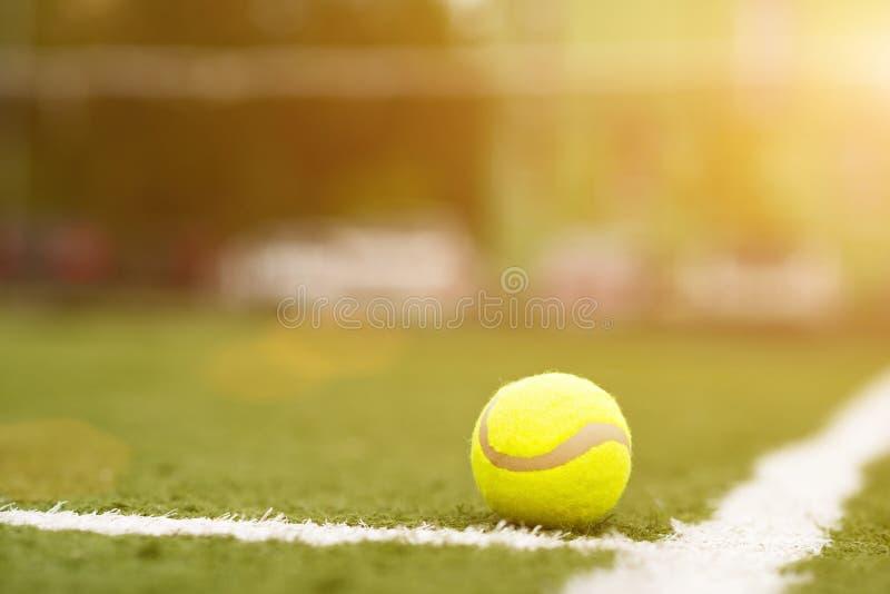 Utrustning för tennis på gräs royaltyfri fotografi