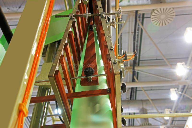 Utrustning för tillverkningplastpåsar royaltyfri foto