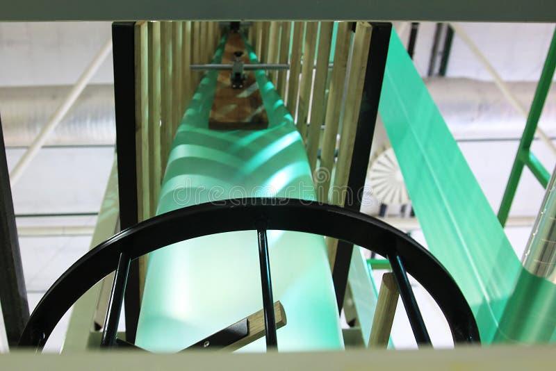 Utrustning för tillverkningplastpåsar royaltyfri fotografi