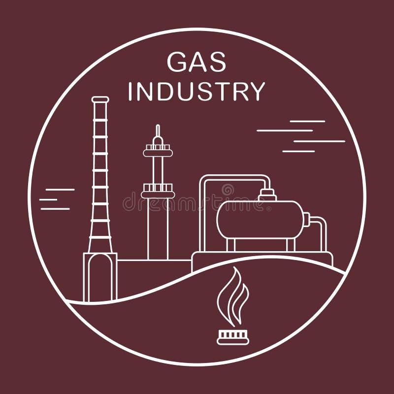 Utrustning f?r gasbransch Extraktion som bearbetar stock illustrationer