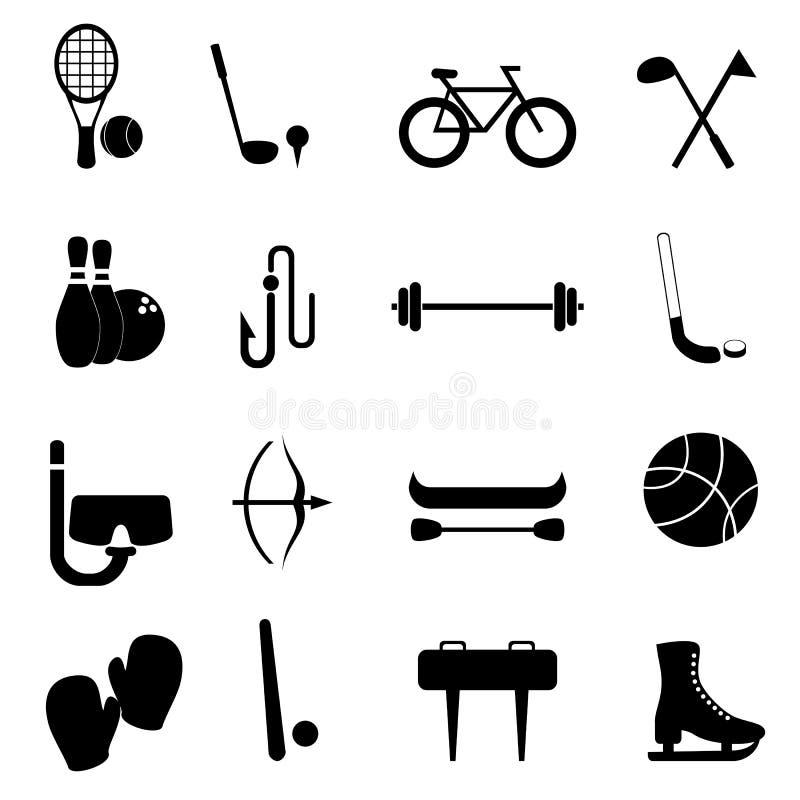 utrustningfritidsportar stock illustrationer