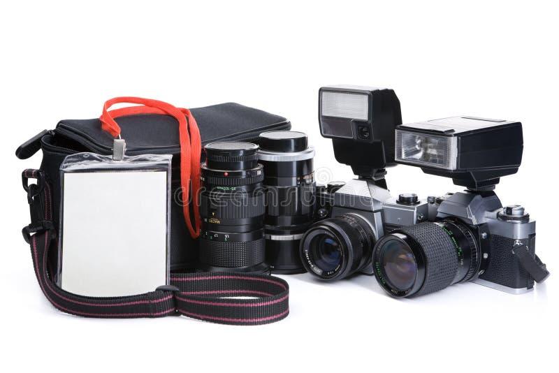 utrustningjournalist royaltyfri fotografi