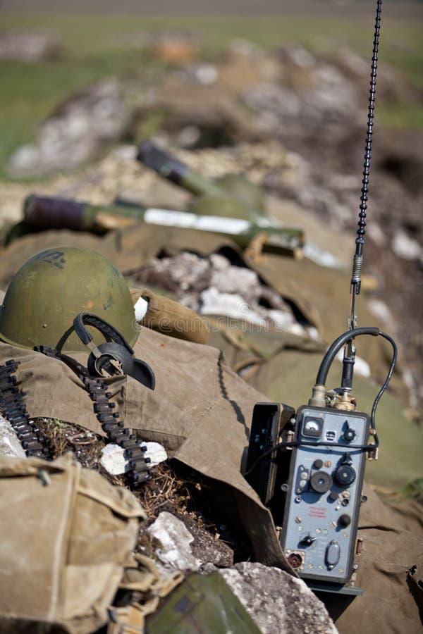 utrustningmilitär royaltyfria foton