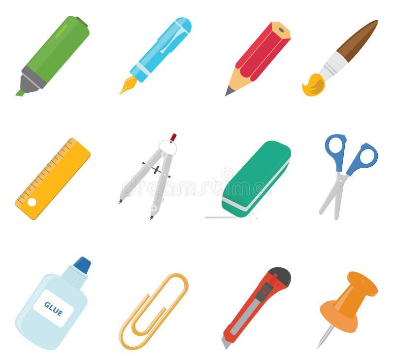 Utrustningsymboler stock illustrationer