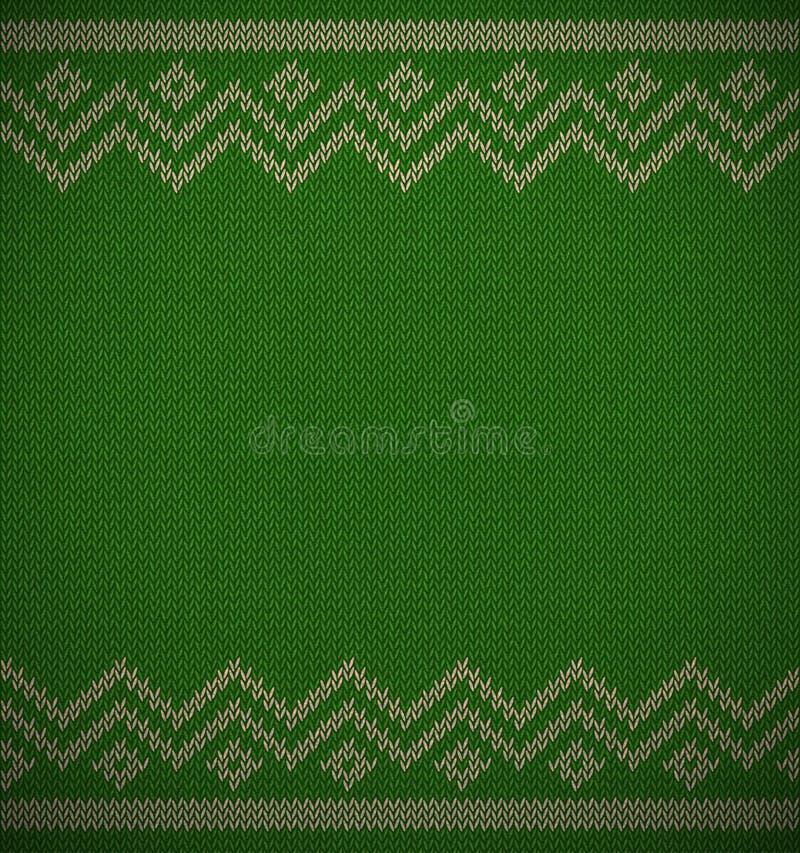 Utrymme för bakgrund för rät maskajul geometriskt för text Realistisk xmas-horisontalvektormodell Stucken textur för vintergräspl royaltyfri illustrationer