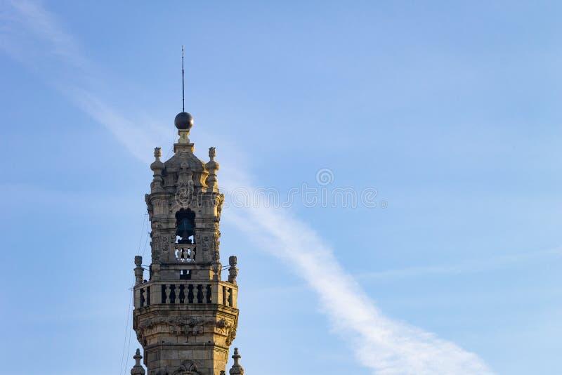 Utrymme för kopia för Torre DOS Clerigos royaltyfri bild