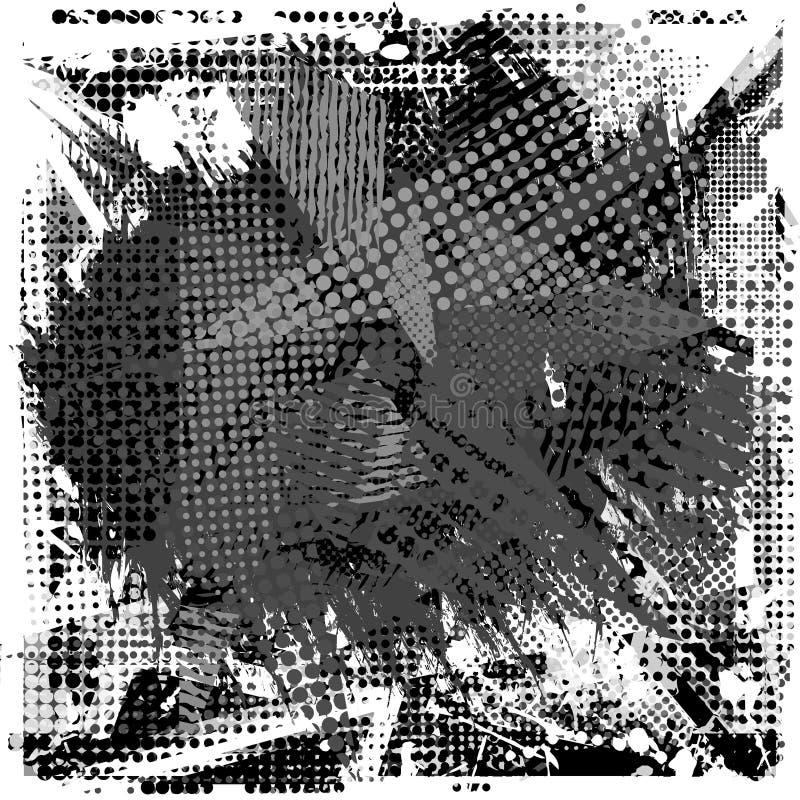 Utrymme för målarfärgslaglängdkopia på abstrakt stads- modell Grunge texturbakgrund vektor illustrationer