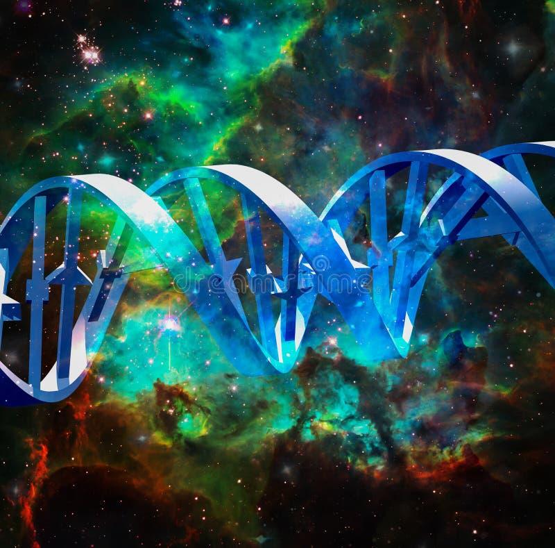 UtrymmeDNA vektor illustrationer