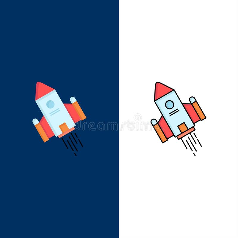 utrymmehantverk, anslutning, utrymme, raket, för färgsymbol för lansering plan vektor royaltyfri illustrationer