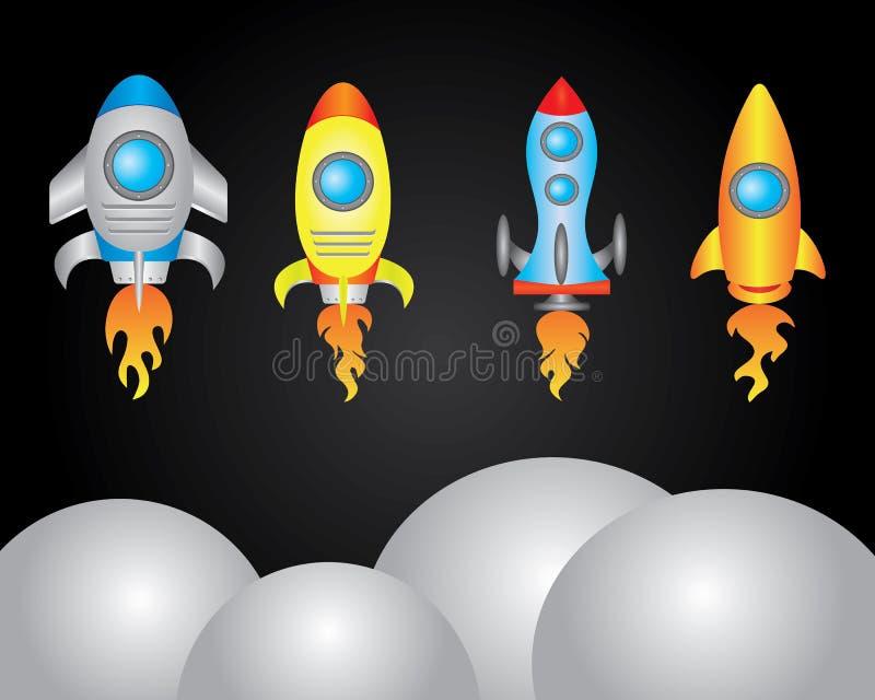 Utrymmehantverkillustration vektor illustrationer