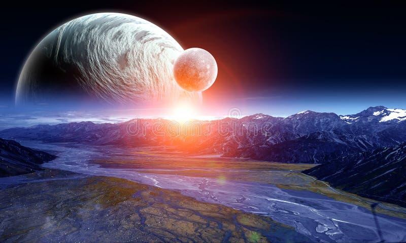 Utrymmeplaneter och natur royaltyfri bild
