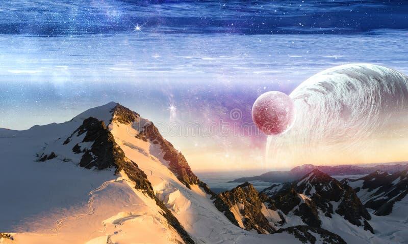 Utrymmeplaneter och natur arkivbild