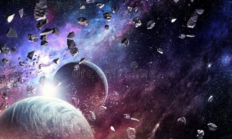 Utrymmeplaneter och nebulosa arkivbild