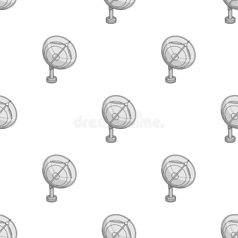Utrymmeradar Utrymmeteknologi i rengöringsduk för illustration för vektorsymbolmateriel stock illustrationer