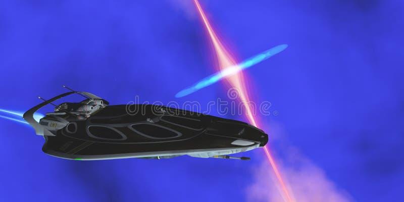UtrymmeStingerStjärna-skepp vektor illustrationer