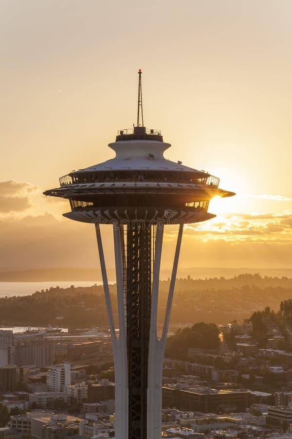 Utrymmevisaren, Seattle, Washington, USA arkivbild