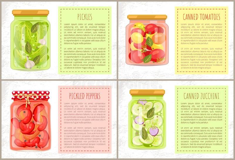 Utrzymana żywność z Naturalnymi produktami Plakatowymi royalty ilustracja