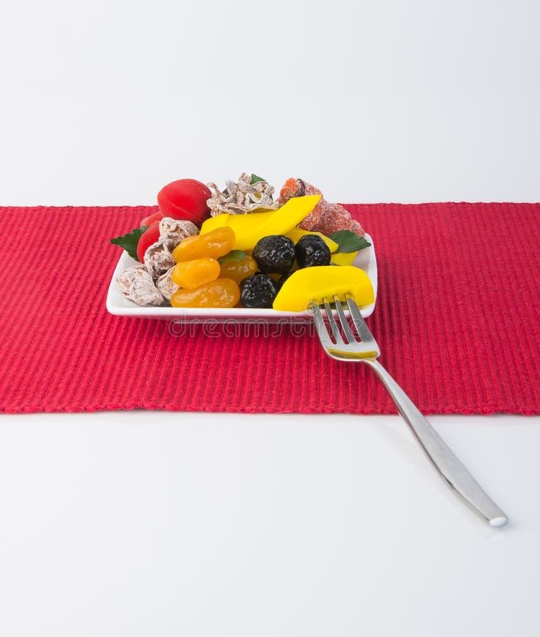 Utrzymane owoc & Wysuszone owoc Karmowa przekąska na tle zdjęcie royalty free