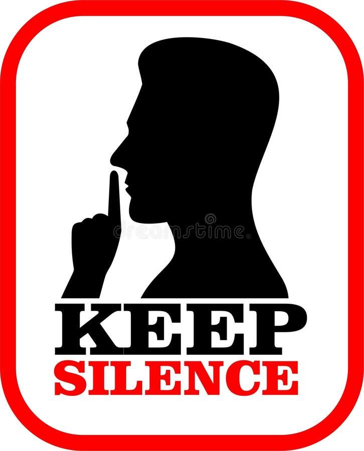 Utrzymanie ciszy znak ilustracja wektor
