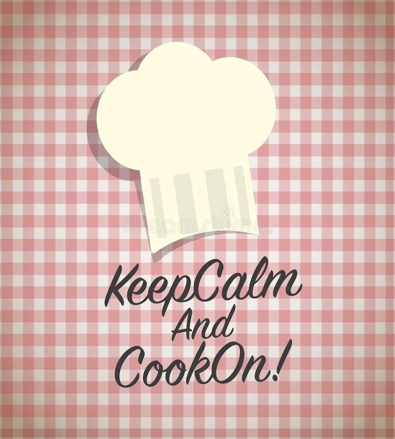 Utrzymanie kucharz i spokój dalej royalty ilustracja