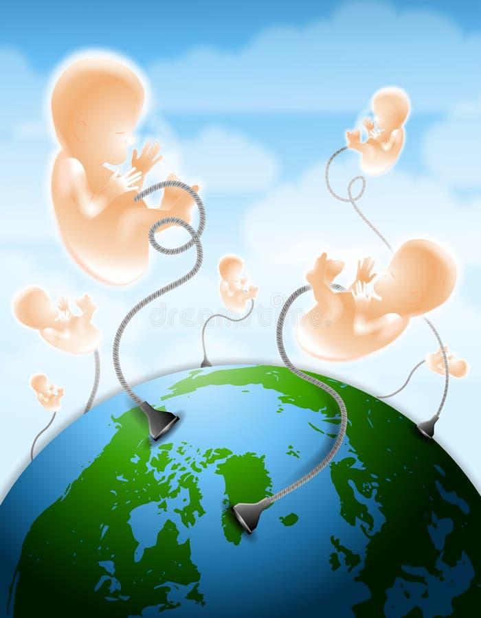 utrzymanie przyszłego ludzkości. royalty ilustracja
