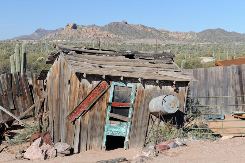 utrzymanie stary shack fotografia stock