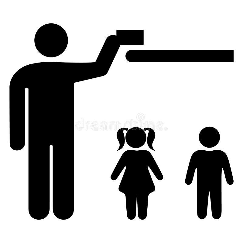 Utrzymanie zdala od dzieci ilustracja wektor