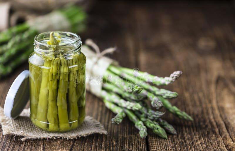 Utrzymany zielony asparagus obraz stock
