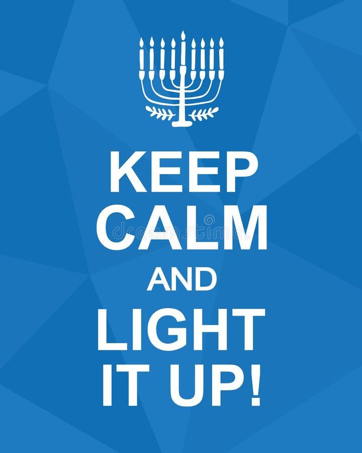 Utrzymuje spokój i Zaświeca Je Up Hanukkah plakat