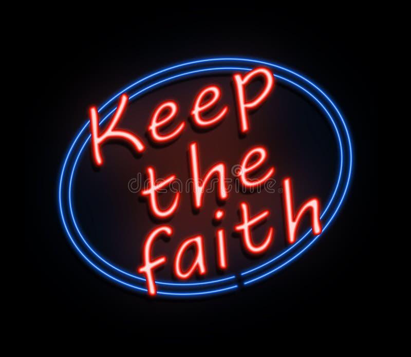 Utrzymuje wiara znaka ilustracja wektor