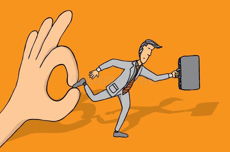Utrzymywać biznesmena od rozwijać się ilustracji