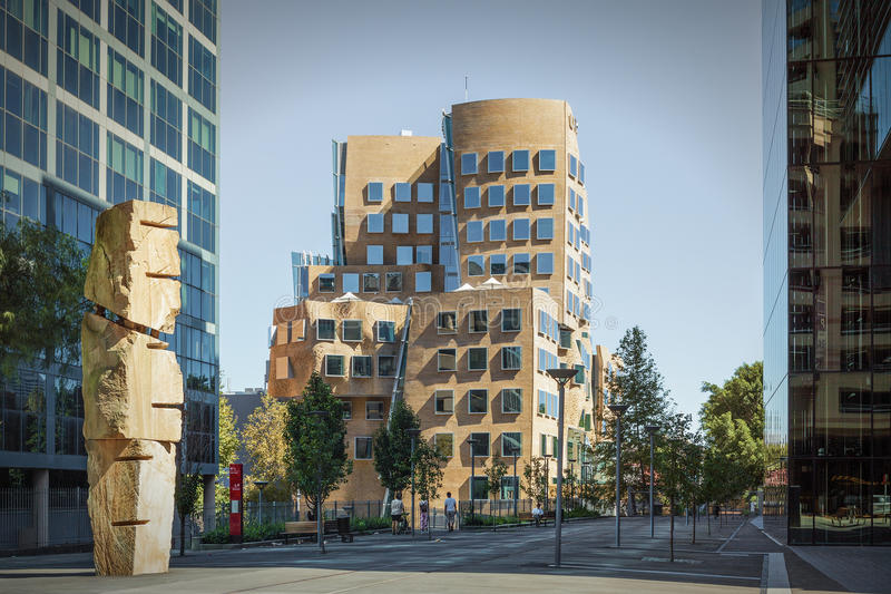 UTS Sydney - Frank Gehry Building fotografie stock libere da diritti
