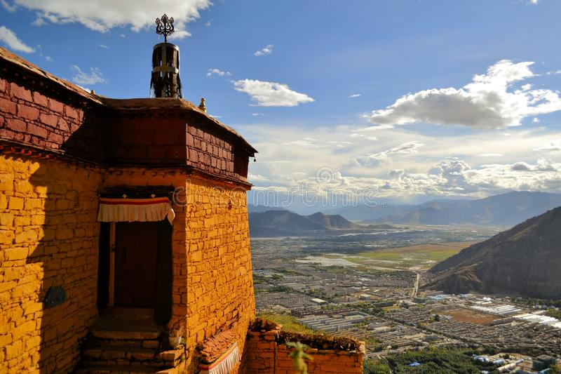 Utse Hermitage above Sera Monastery, Lhasa, Tibet. Sera Utse Hermitage above Choding Khang Hermitage in Sera Monastery, Lhasa, Tibet. Sera Use Hermitage on Sera royalty free stock photography