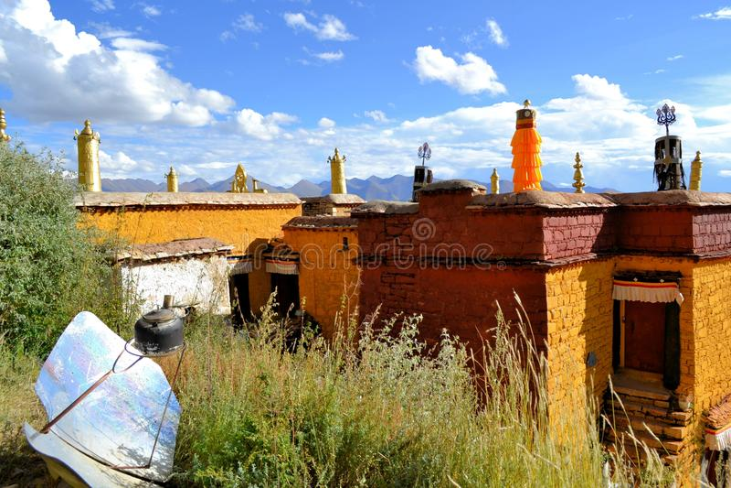 Utse Hermitage above Sera Monastery, Lhasa, Tibet. Sera Utse Hermitage above Choding Khang Hermitage in Sera Monastery, Lhasa, Tibet. Sera Use Hermitage on Sera royalty free stock images