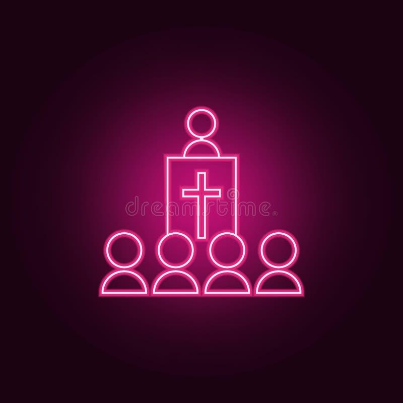 utseende av en herdesymbol Beståndsdelar av påsken i neonstilsymboler Enkel symbol för websites, rengöringsdukdesign, mobil app,  vektor illustrationer