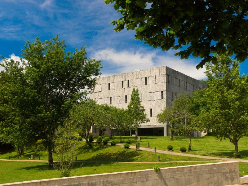 UtsiktAlegre park i Santiago de Compostela arkivbilder
