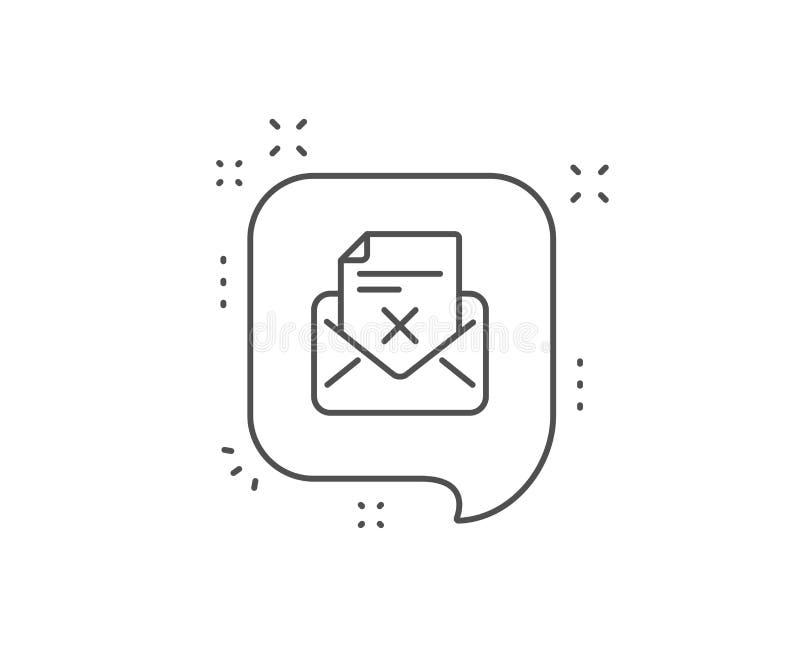 Utskottsvarabokstavslinje symbol Borttagningsposttecken vektor vektor illustrationer