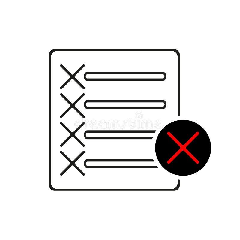 Utskottsvaramapplinje symbol Nedgångdokumenttecken Borttagningsmapp Plan appbeståndsdel för kvalitets- design Redigerbar symbol f vektor illustrationer