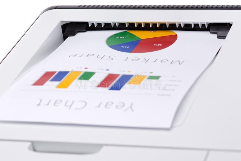 Utskrivavet affärsfärgdiagram arkivbild