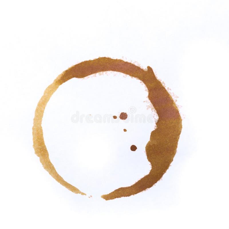 Utslagsplats- eller kaffekoppcirklar som isoleras på en vit bakgrund royaltyfri foto
