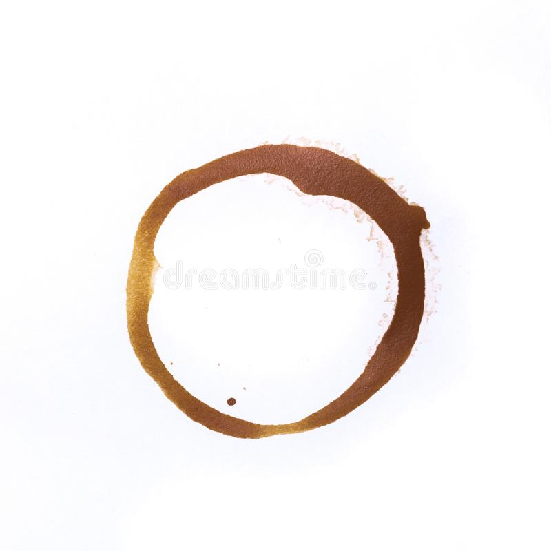 Utslagsplats- eller kaffekoppcirklar som isoleras på en vit bakgrund royaltyfria bilder